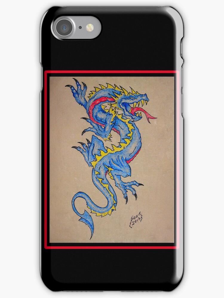 blue dragon parchment card by dedmanshootn