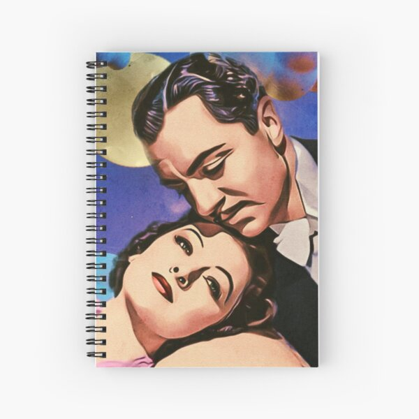 Nick and Nora, Moon, Clouds and Toothbrush Quote Spiral Notebook