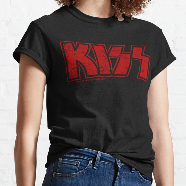 Kiss the Band logo red Classic T-Shirt