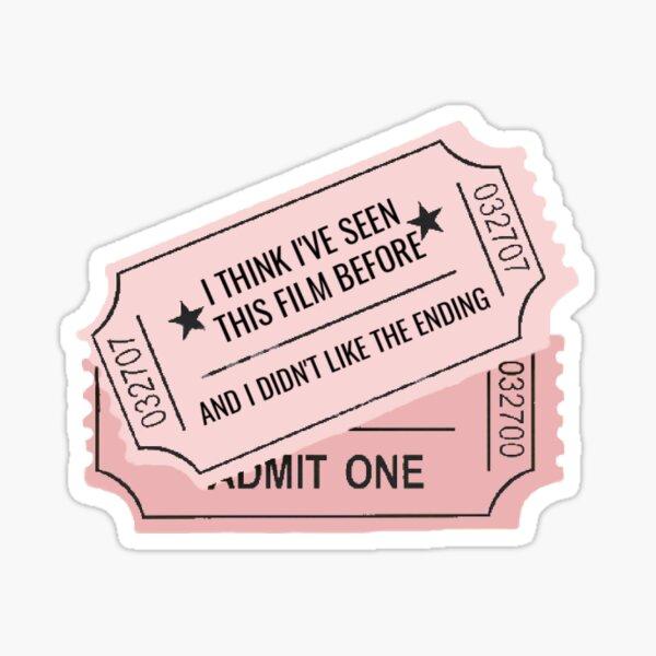 exile tickets Sticker