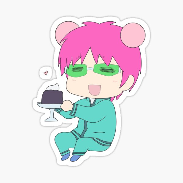 Saiki and Coffee Jelly Sticker