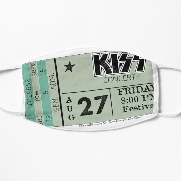 KISS Concert ticket Stub Mask