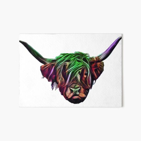 Highland Cow Design - Wall Art Art Board Print