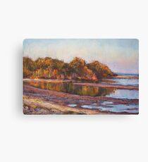 Lake Cathie - golden glow Canvas Print