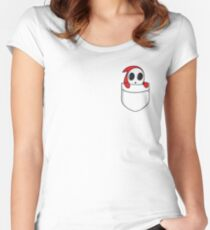 Shy little guy. Women's Fitted Scoop T-Shirt