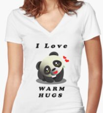 Cute Stuffs Collector's Tee-Shirts and Stickers - Panda Women's Fitted V-Neck T-Shirt