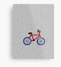 Blue and Red Bicycle Metal Print