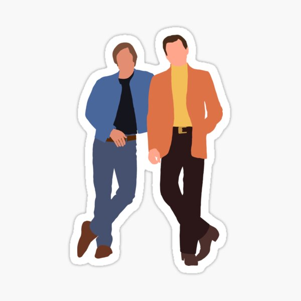 Once Upon a Time In Hollywood Brad Pitt and Leonardo DiCaprio Sticker