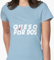 Queso Por Dos. Women's Fitted T-Shirt