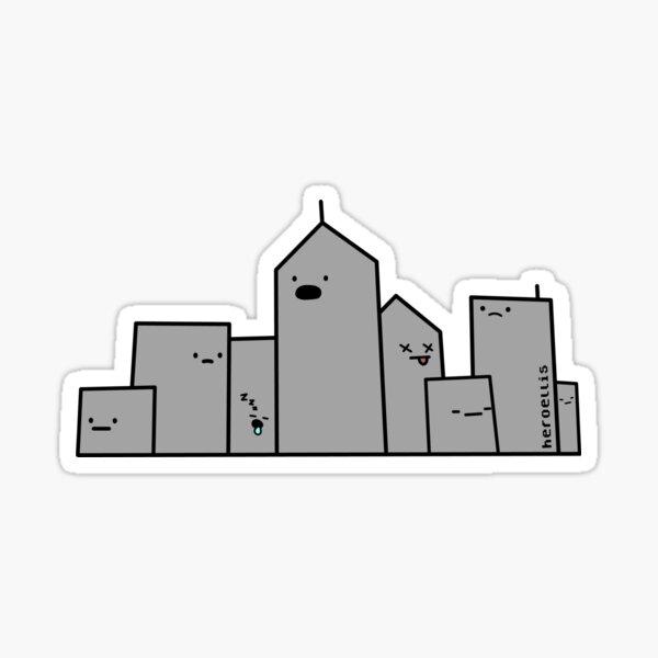 Marshmallow City Sticker