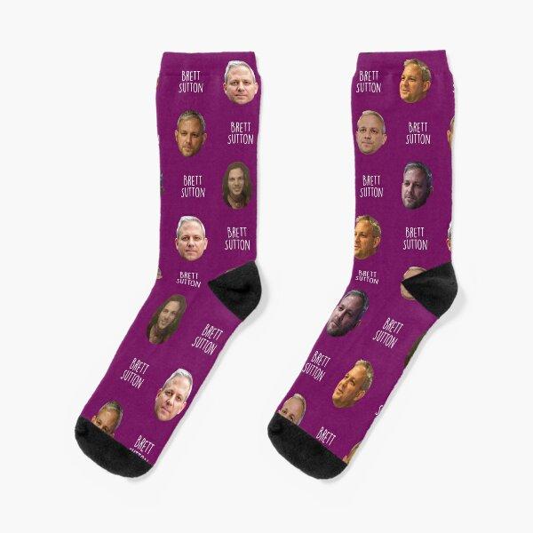 Brett Sutton - Face Pattern Socks