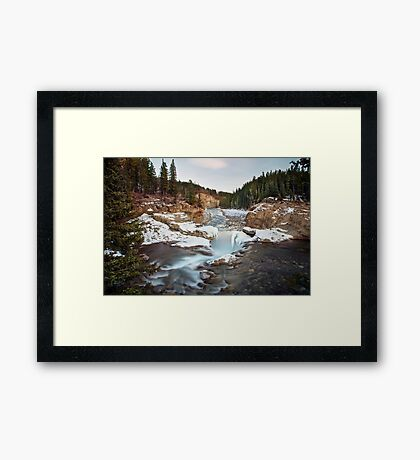 In The Frosty Forests Framed Print