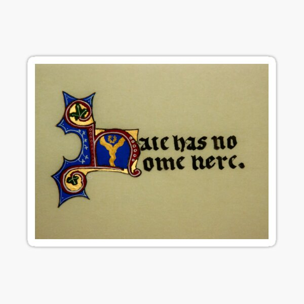 Hate has no home here Sticker