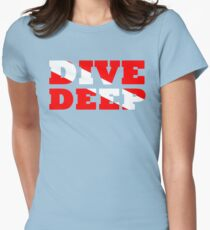 SCUBA DIVING DEEP DIVE FLAG Womens Fitted T-Shirt