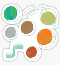 Collection of space icons Sticker