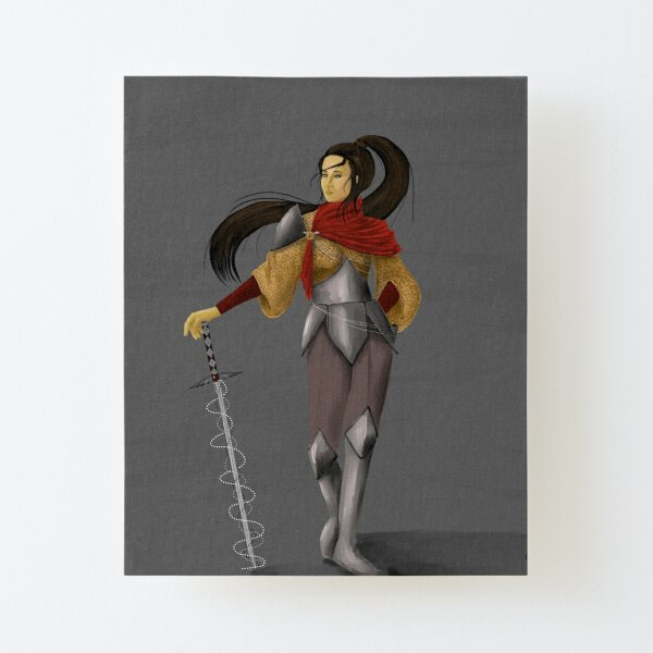 The Sword Canvas Mounted Print