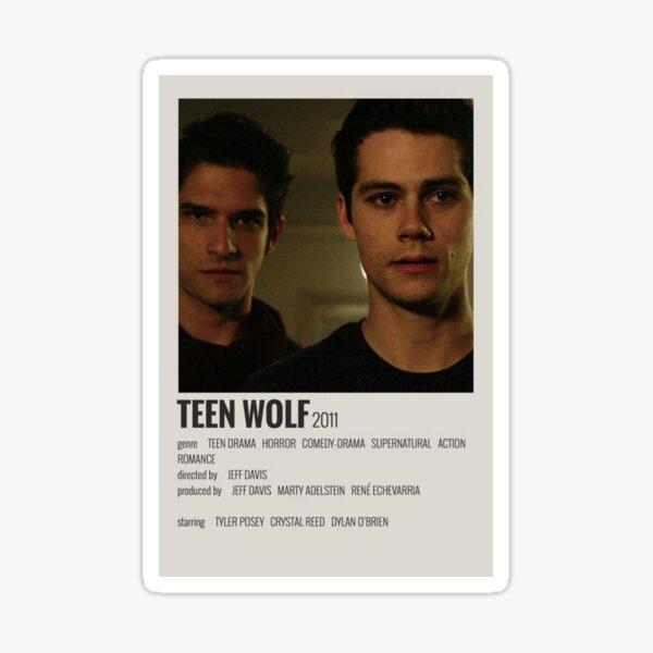 Cartel minimalista del programa de televisión Teen Wolf Pegatina