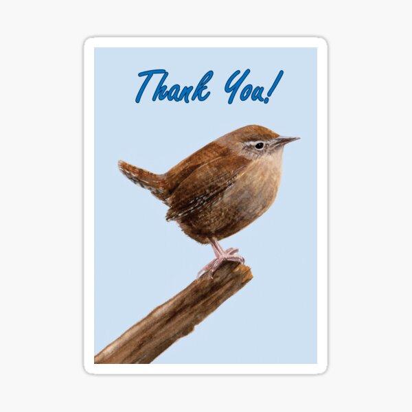 Jenny Wren - Thank You Card Sticker