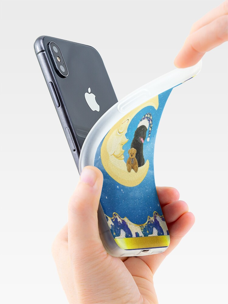 Alternate view of Night Night Little Newfie iPhone Case & Cover