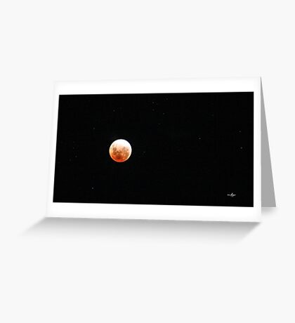 Lunar Eclips Greeting Card