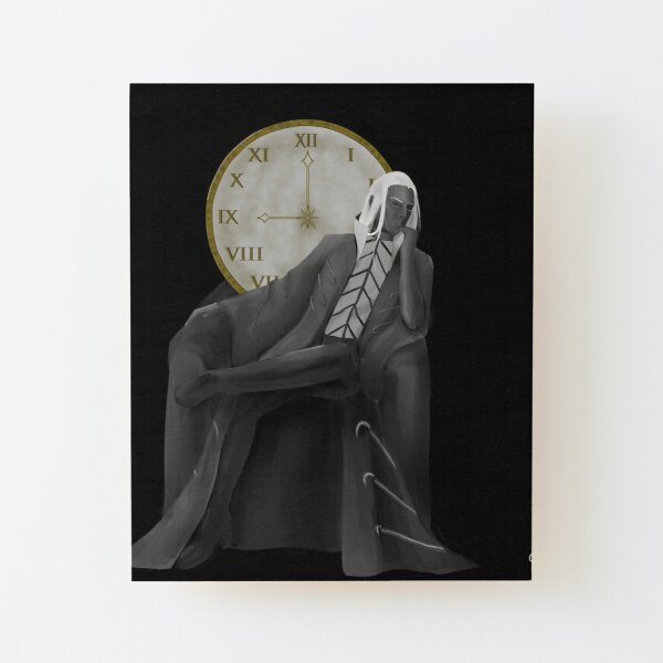 The Time Wood Mounted Print