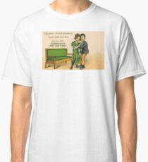 Cute Victorian romantic couple in love Classic T-Shirt