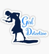Girl Detective (dark on light) Sticker