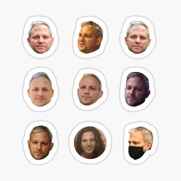 Brett Sutton - Faces Stickers Pack Sticker