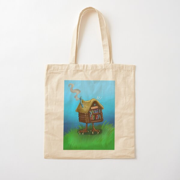 Free Library Hut Cotton Tote Bag