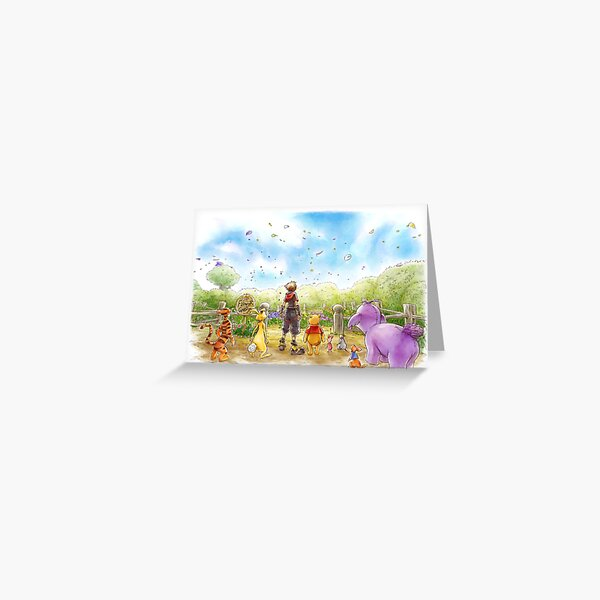 Kingdom Hearts 3 - 100 Acre Wood Greeting Card