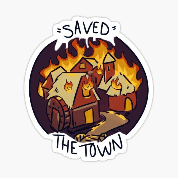 D&D Burned Down the Town Sticker