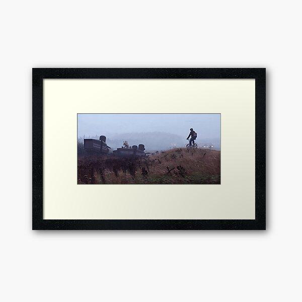 The Scrapyard Sentry Framed Art Print