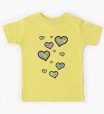 Colourful Hearts Kids Tee