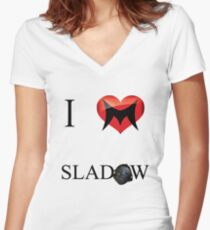 I Love Sladow Women's Fitted V-Neck T-Shirt