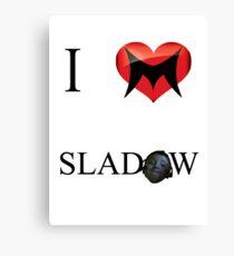 I Love Sladow Canvas Print