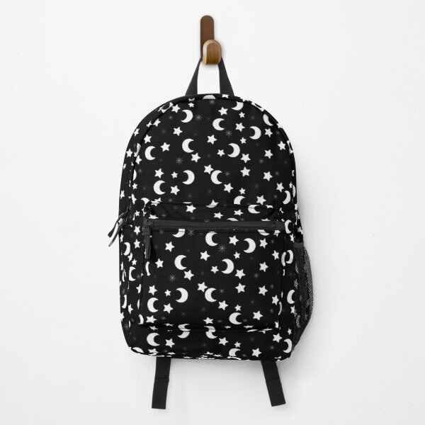 Moons and Stars (Black Background) Backpack