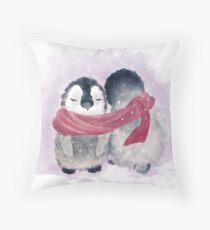 Penguin Cuddle Throw Pillow