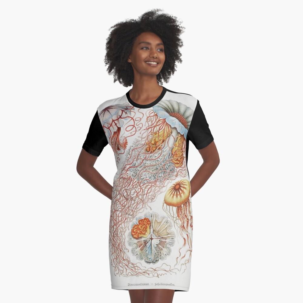 Marine Life Graphic T-Shirt Dress
