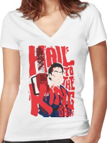 Army Of Darkness/Bruce Campbell Women's Fitted V-Neck T-Shirt