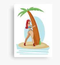 Pin Up - Small Island Canvas Print