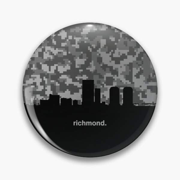 My heart beats for United States of America, Richmond  Pin