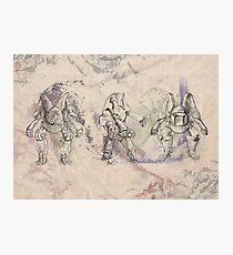 Fantasy Robot Mecha Warrior Photographic Print