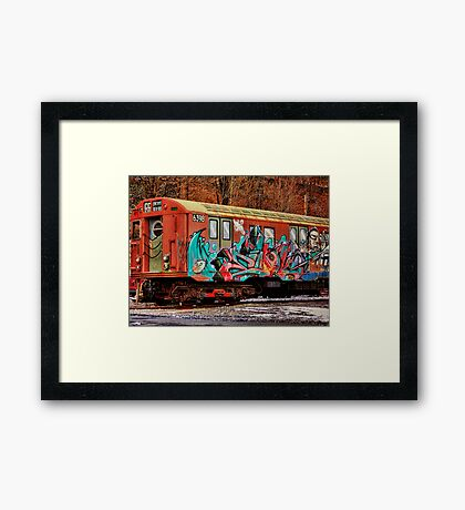 8th Ave Concourse Trolley Framed Print