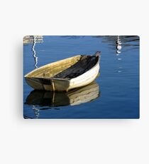 A boat in the harbour Canvas Print