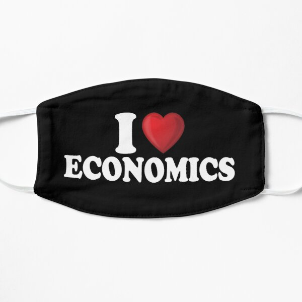 I Love Economics Flat Mask