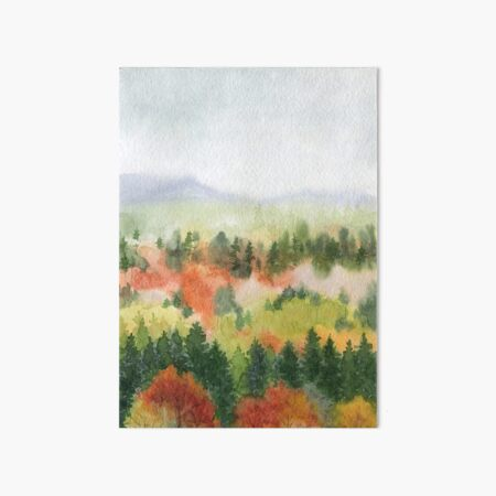 Autumn landscape Art Board Print