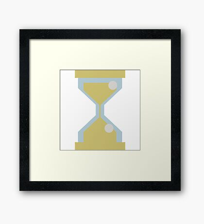 Sand clock Framed Print