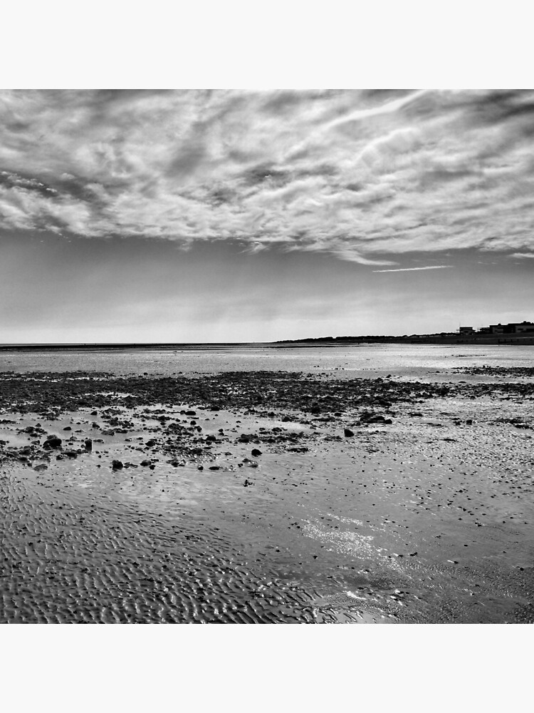 Low-Tide Black and White Seascape by hoxtonboy