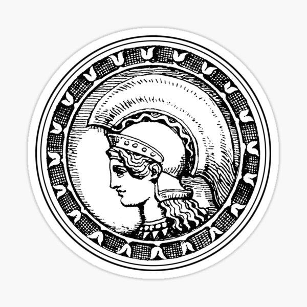Athena/Minerva - black Sticker