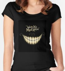 Cheshire Smile Women's Fitted Scoop T-Shirt